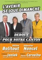 Circulaire de Hélène Balitout et Sébastien Nancel - 2nd tour des élections départementales, canton deThourotte, 29 mars 2015