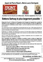 Appel de Marie-Laure Darrigade et Pierre Ripart-« 6 mai, virez Sarkozy » - 25 avril 2012