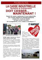 Tract industrie de Jean-Pierre Bosino et Marylène Descoings - 4 juin 2012