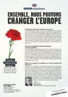 Ensemble, nous pouvons changer l'Europe
