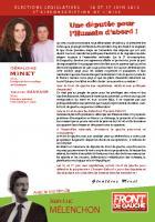 Tract de campagne du Front de gauche dans la 5e circonscription de l'Oise - 21 mai 2012
