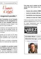 Appel de Géraldine Minet et Sébastien Sauvage-« 6 mai, virez Sarkozy » - 25 avril 2012