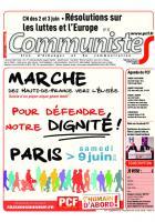 CommunisteS n° 727 du 6 juin 2018