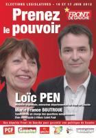 Tract de campagne du Front de gauche dans la 7e circonscription de l'Oise - 9 mai 2012