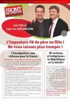Tract de Loïc Pen et Marie-France Boutroue contre le FN - 21 mai 2012