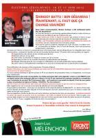 Tract de campagne du Front de gauche dans la 7e circonscription de l'Oise - 25 mai 2012