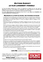 Appel de Loïc Pen et Marie-France Boutroue-« 6 mai, virez Sarkozy » - 25 avril 2012