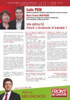 Profession de foi de Loïc Pen et Marie-France Boutroue - 10 juin 2012