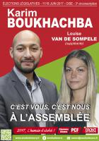 Affiche de campagne de Karim Boukhachba et Louise Van de Sompele au législatives 2017 - 3e circonscription de l'Oise, 22 mai 2017