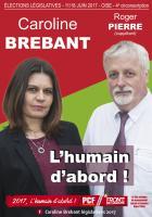 Affiche de campagne de Caroline Brebant et Roger Pierre aux Législatives 2017 - 4e circonscription de l'Oise, 23 mars 2017