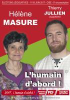 Affiche de campagne de Hélène Masure et Thierry Jullien aux Législatives 2017 - 5e circonscription de l'Oise, 31 mars 2017