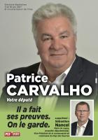 Affiche de campagne de Patrice Carvalho et Sébastien Nancel aux Législatives 2017 - 6e circonscription de l'Oise, 28 avril 2017