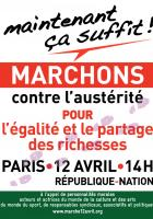 Affiche de la marche unitaire du 12 avril 2014