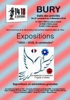 27 novembre au 2 décembre, Bury - Expositions 1914-1918, le centenaire