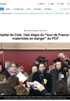 20190211-F3 Picardie-L'hôpital de Creil, première étape du « tour de France des maternités en danger » du PCF