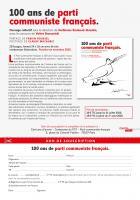 Je commande le livre « Cent ans de Parti communiste français » ! : bon de souscription
