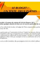 CIDEFE-Présentation de la loi de finances 2013 - Octobre 2012