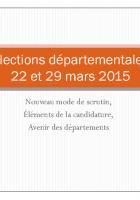 Élections départementales 2015 : guide du Cidefe