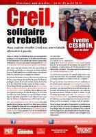 Circulaire de la liste « Creil, solidaire et rebelle » - mars 2014