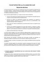 Relevé de décisions du Conseil national du PCF des 24 & 25 septembre 2016 - 5e Congrès du Parti de la Gauche Européenne