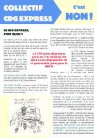 Tract «CDG Express, c'est non ! » - Collectif Non au CDG Express, 2016