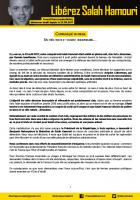 Communiqué de presse du Comité de soutien à Salah Hamouri - 23 août 2018
