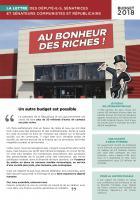 La Lettre des parlementaires communistes et républicains-« Budget 2018 : un autre budget est possible » - Oise, 29 novembre 2017