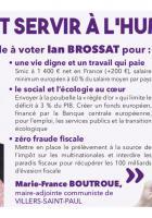 Appel à voter de Marie-France Boutroue, maire-adjointe de Villers-Saint-Paul, pour la liste conduite par Ian Brossat - Élections européennes, 26 mai 2019