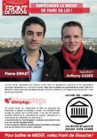 Tract de campagne du Front de gauche - 2e circonscription, mars 2013