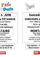 Flyer « Concours de pétanque » - PCF Oise, 29 mai 2015
