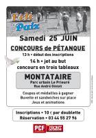 Flyer « Concours de pétanque » - PCF Oise, 27 mai 2016