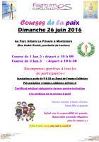 Tract « Courses de la Paix » - Montataire, 27 mai 2016