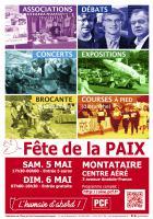 Affiche de la 14e édition de la Fête de la Paix - PCF Oise, 5 & 6 mai 2018