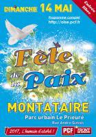Affiche de la 13e édition de la Fête de la Paix - PCF Oise, 14 mai 2017
