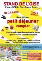 Flyer « Le stand de l'Oise sur la Fête de l'Humanité » - 15, 16 et 17 septembre 2017