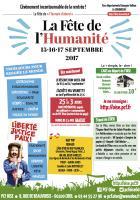Tract « Fête de l'Humanité 2017 »-vCouleur - PCF Oise, 15 au 17 septembre 2017
