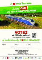 Flyer « Je dis 'oui' à la ligne Roissy-Picardie » - Février, mars & avril 2021