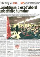 L'Humanité-20111121-La politique, c'est d'abord une affaire humaine