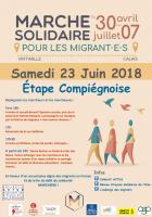 Marche solidaire pour les migrants : étape compiégnoise - 23 juin 2018
