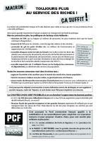 Tract « Macron : toujours plus au service des riches, ça suffit ! » - Journée à la mer, 19 août 2017