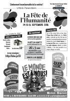 Tract « Journée à la mer - Fête de l'Humanité » par secteur géographique (verso) - PCF Oise, juin & juillet 2018