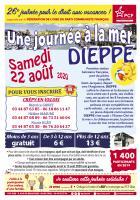 Flyer « 26e Journée à la mer pour le droit aux vacances » - PCF Oise, juillet & août 2020