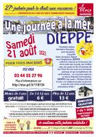 Flyer « 27e édition de la Journée à la mer pour le droit aux vacances » - PCF Oise, 21 août 2021