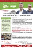 Profession de foi de Thierry Aury et Christophe Gaignon - 1re circonscription de l'Oise, 11 juin 2017