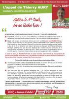 Tract « L'appel de Thierry Aury :