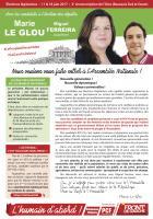 Profession de foi de Marie Le Glou et Miguel Ferreira - 2e circonscription de l'Oise, 11 juin 2017
