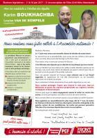 Profession de foi de Karim Boukhachba et Louise Van de Sompele - 3e circonscription de l'Oise, 11 juin 2017