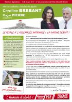 Profession de foi de Caroline Brebant et Roger Pierre - 4e circonscription de l'Oise, 11 juin 2017