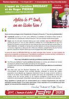 Tract « L'appel de Caroline Brebant et Roger Pierre :