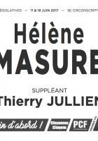 Bulletin de vote « Hélène Masure et Thierry Jullien (suppléant) » - 5e circonscription de l'Oise, 11 juin 2017
